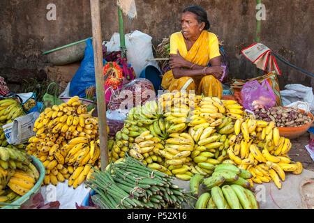 Puesto en el mercado, Goa, India