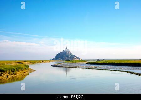 Francia, Normandía (Normandía), Manche el departamento, Le Mont-Saint-Miichel.