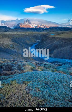 América del Sur, Patagonia, Argentina, El Chalten, Cerro Fitz Roy, en el Parque Nacional Los Glaciares