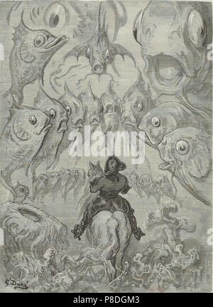 """Ilustración para el libro """"Las sorprendentes aventuras del barón Münchhausen"""" por Rudolph Erich Raspe. Museo: Colección privada."""