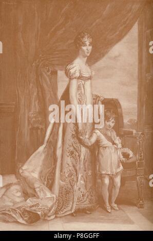 """""""Eugénie-Hortense de Beauharnais, esposa de Luis Bonaparte; la Reina de Holanda', 1807, (1896). Artista: Frank francés."""