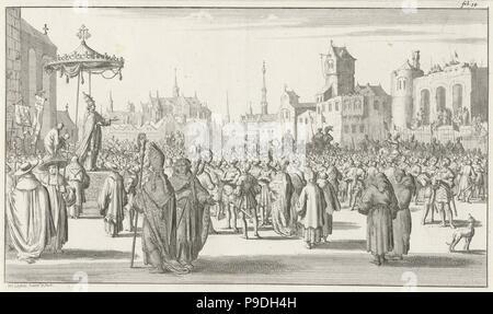 El papa Urbano II predica la Primera Cruzada. Museo: Rijksmuseum, Amsterdam.