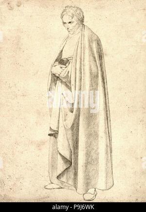 Wilhelm Von Schadow - Joseph en un abrigo Floor-Length Wintergerst