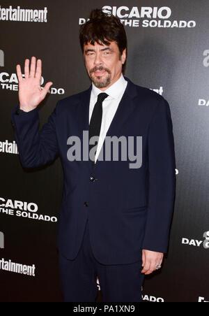 'Sicario: Día del Soldado' Premiere - Llegadas Con: Benicio Del Toro donde: Nueva York, Nueva York, Estados Unidos Cuándo: 18 Jun 2018 Crédito: Patricia Schlein/WENN.com Foto de stock