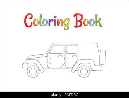 Safari Jeep Wrangler. Páginas para colorear para los niños ...