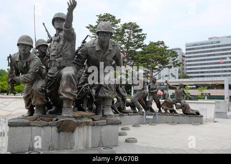 War Memorial y el Museo, Seúl, Corea del Sur de Asia.
