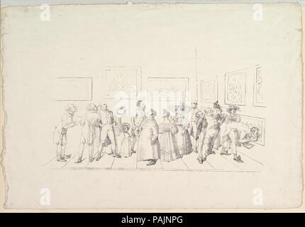 El público en una exposición. Artista: Johann Gottfried Schadow (alemán, Berlín Berlín 1764-1850). Fecha: 1831. Museo: Museo Metropolitano de Arte, Nueva York, Estados Unidos.