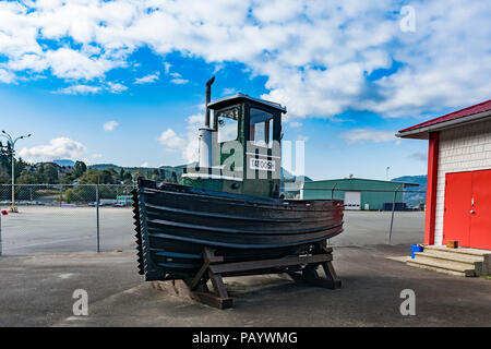 Barco Remolcador, Pluma, Tatoosh, Centro de Descubrimiento marítimo, Puerto Quay, Port Alberni, British Columbia, Canadá