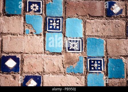 Detalle de la azulejería, la Mezquita Azul, Masjid-i Muzaffariya, Tabriz, Irán