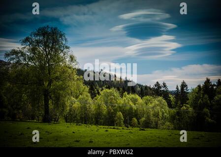 Nube lenticular, Ornes, Sogn og Fjordane, Noruega