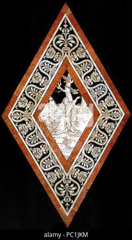 472 Pavimento di Siena, esagono, Elia nutrito dai corvi nel deserto (franchi)