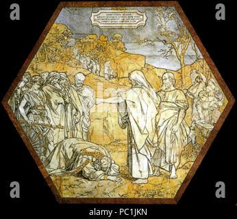472 Pavimento di Siena, esagono, Elia predice la morte di acab (franchi)