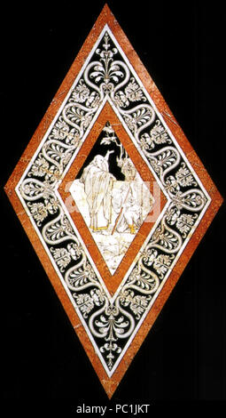472 Pavimento di Siena, esagono, Elia unge iehru re d'israele (franchi)