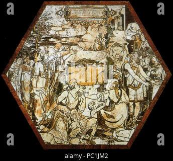 472 di Siena, pavimento, sacrificio esagono dei sacerdoti di baal (beccafumi)