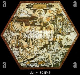 472 di Siena, pavimento, uccisione esagono dei sacerdoti di baal (beccafumi)
