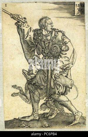 42 Heinrich Aldegrever - O mestre de cerimônias Foto de stock