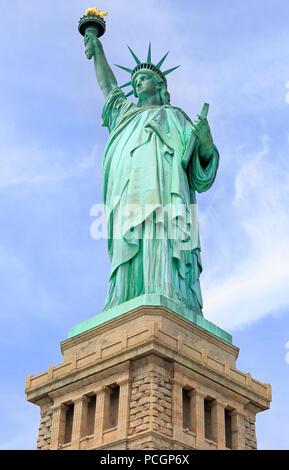 Estatua de la libertad, de la ciudad de Nueva York, EE.UU. Foto de stock