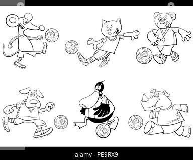 Libro para colorear la ilustración de dibujos animados de ...