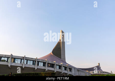 Estadio Nacional Yoyogi (Kenzo Tange), construido para los Juegos Olímpicos de Verano de 1964 en Tokio, Japón