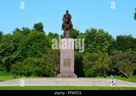 Chicago monumento de un caballero Blaník en memoria de Tomás Garrigue Masaryk que conducen a la independencia de Checoslovaquia después de la Primera Guerra Mundial. Foto de stock