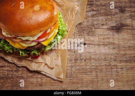 Veggie Burger, vista superior Foto de stock