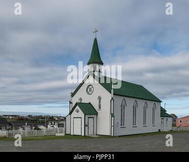 El exterior de la zona histórica de Saint Joseph de la Iglesia Católica Romana en Chapel Hill, en Bonavista, Terranova y Labrador