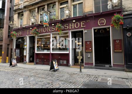 El famoso bar de herradura en Glasgow's Drury Street desde 1884, Scotland, Reino Unido
