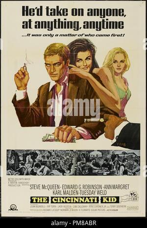 Studio Publicidad: 'El Cincinnati Kid' 1965 MGM Poster Steve McQueen Archivo de referencia # 31780 646
