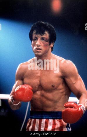 Studio publicidad todavía de 'Rocky IV' Sylvester Stallone © 1985 MGM/UA Todos Los Derechos Reservados Archivo de referencia # 31703102THA sólo para uso editorial