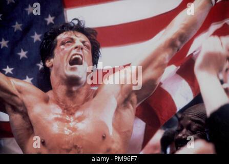 Studio publicidad todavía de 'Rocky IV' Sylvester Stallone © 1985 MGM/UA Todos Los Derechos Reservados Archivo de referencia # 31703103THA sólo para uso editorial