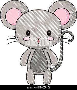 Los Ratones Dibujos Animados Ilustración Vectorial