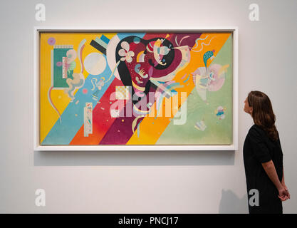 Composición IX Wassily Kandinsky en el Louvre Abu Dhabi, Emiratos Árabes Unidos, EAU
