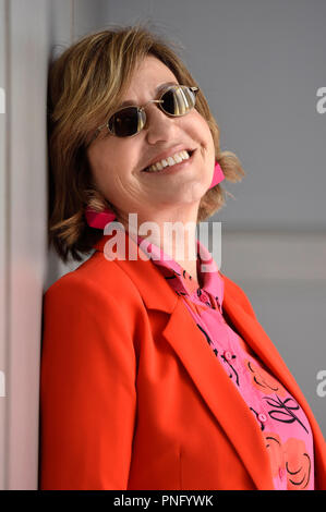 San Sebastián, España. El 21 de septiembre de 2018. Mercedes Moran durante una sesión de fotos exclusivas en la 66ª San Sebastian International Filmfestival en el Maria Cristina Hotel el 21 de septiembre de 2018, en San Sebastián, España.