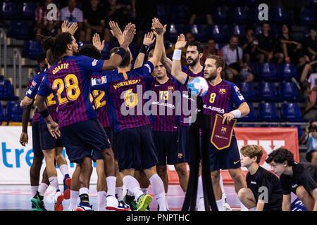 Barcelona, España. 22 de septiembre de 2018. Fc Barcelona Lassa en acciones durante la VELUX EHF Champions League entre el FC Barcelona y Lassa MKB Veszprem HC el 22 de septiembre de 2108 en el Palau Blaugrana, en Barcelona, España, el crédito: AFP7/Zuma alambre/Alamy Live News