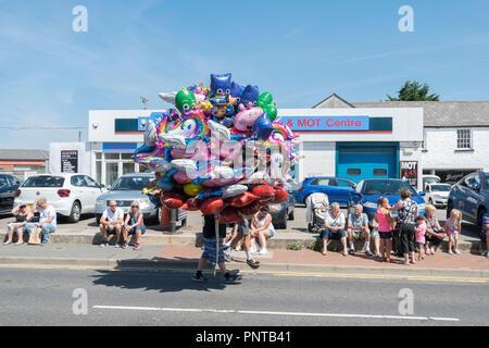 Abergele Carnaval y suerte 14 de julio de 2018 en la costa norte de Gales