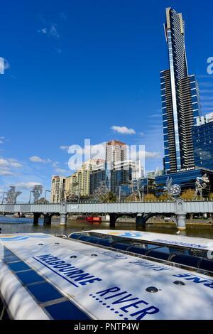 Melbourne crucero en barca por el Río Yarra, Melbourne, VIC, Australia