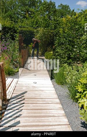 Festival Internacional de jardines, el dominio de Chaumont-sur-Loire, Centro de arte y naturaleza, valle del Loira, Le Dedale de la Pensee, Loir-et-Cher, Touraine,