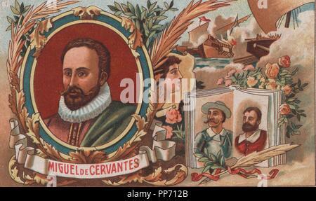 Miguel de Cervantes Saavedra (1547-1616). Soldado, novelista, poeta y dramaturgo español.