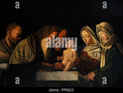 Giovanni Bellini (1432-1516). Pintor italiano. La circuncisión, ca. 1500. Colección de bourbon. Museo Nacional de Capodimonte. Nápoles. Italia.