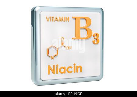 Estructura Molecular De La Niacina Vitamina B3 ácido