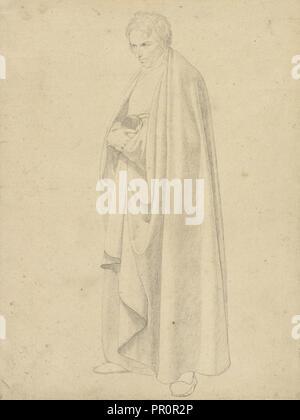 Joseph Floor-Length Wintergerst en una capa; Wilhelm von Schadow, Alemán, 1788 - 1862, Italia; alrededor de 1811 - 1813; el grafito