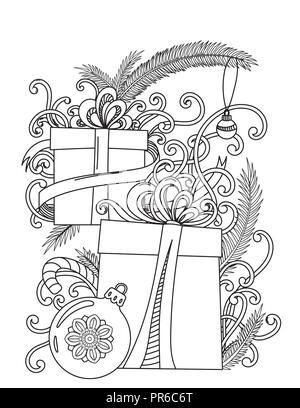 Vector monocromo negro dibujado a mano perfecta zentangle esquema ...