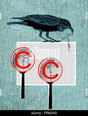 Raven roba texto de copia