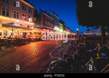 Nyhavn, Copenhague, Dinamarca Hovedstaden, Europa del Norte,