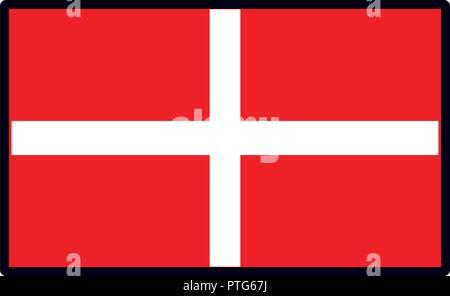 El emblema de la bandera de Dinamarca