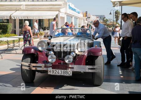 Gatsby. Reunión de coches clásicos en Torremolinos, Málaga, España.