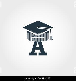 Icono de principiante. Diseño monocromático Premium desde la educación colección de iconos. Icono de principiante creativo diseño web y uso de la impresión.
