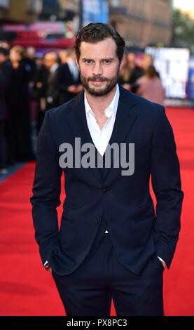 Jamie Dornand asistir al estreno de guerra privada como parte de la BFI London Film Festival en el Cineworld Cinema en Londres. Foto de stock