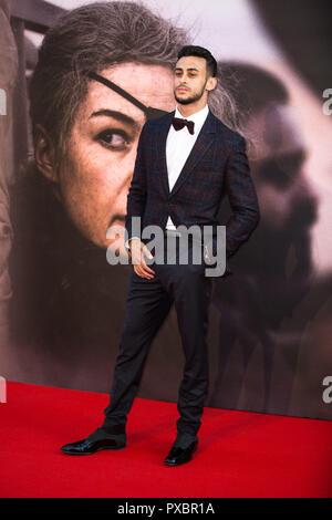Londres, Reino Unido. 20 Oct, 2018. Fady Elsayed en una guerra privada Premiere en el BFI London Film Festival - El alcalde de Londres, el 20 de octubre de 2018 Gala en Cineworld Leicester Square - London Credit: Tom Rose/Alamy Live News Foto de stock