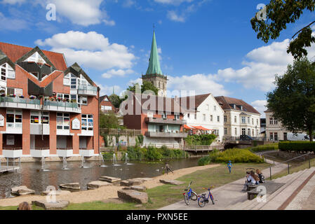 Paisaje urbano de Lüdinghausen, Münsterland, Renania del Norte-Westfalia, Alemania, Europa